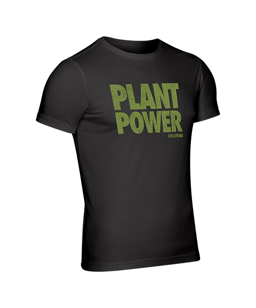 Powered by plants black gym top
