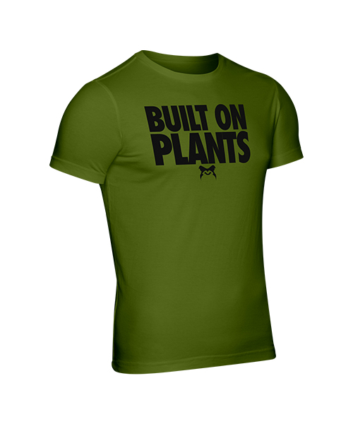 Mens olive powered by plants gym top